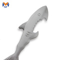 Metal shark christian fish bottle opener keychain