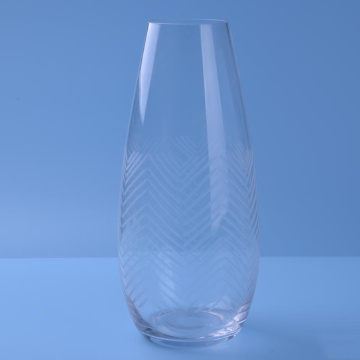 Hand Made Clear Tumbler With Lines