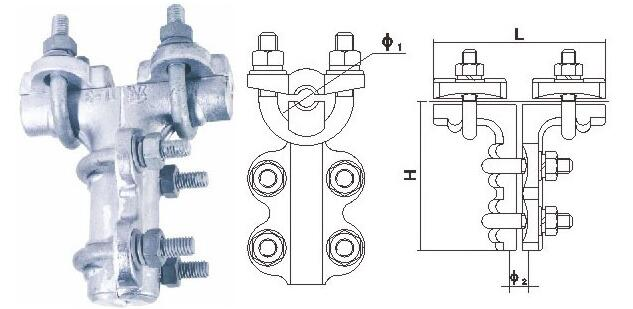 Bolt Type T-Connector For Single Conductor