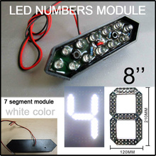 """8"""" white color led digita numbers module,led gas price,led sign,advertising board,led billboard,led temperature and time display"""