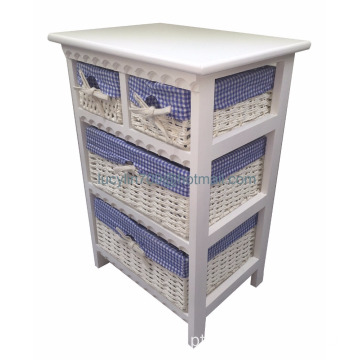 Maize Basket Unit 4 Drawer Storage Cabinet Table Bedside Night Stand Organiser