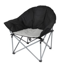Black Oversize Padded Sofa Chair for Camping