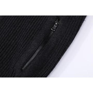 Men's Knitted Full Zip Tyre Sleeve Cardigan