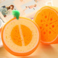 Creative fruit thicken cleaning cloth kitchen cleaning dishcloth powerful decontamination cleaning and dishwashing soft sponge