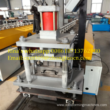 punched steel shutter roll forming machine