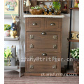Antique Bench Wicker Design Large Modern paulownia Wooden Shoe Cabinet