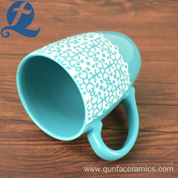 New product wholesale promotional price travel souvenir ceramic relief mug
