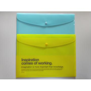 Colored efficient spill resistant filing envelopes