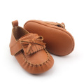 New Design Exquisite Moccasins Leather Baby Shoes