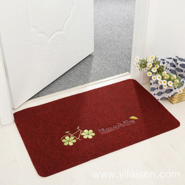Popular embroidered bathroom door mat