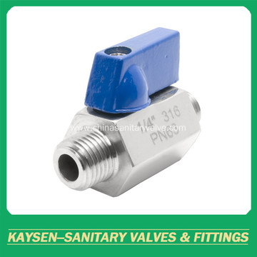 Stainless Steel thread mini ball valves Male*Male