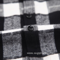 Fashion 100% cotton stand up flannel shirt