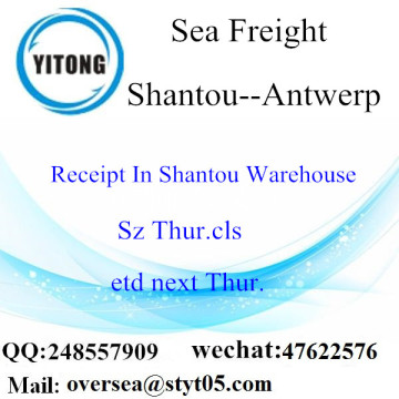 Shantou Port LCL Consolidation To Antwerp