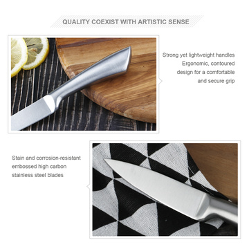 Stainless steel hollow handle paring knife