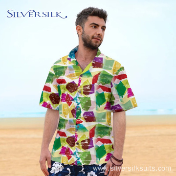 Colorful Creative Anti Shrink Breathable Short Sleeve Shirt