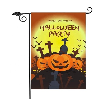 New design holidays yard sublimation halloween garden flag