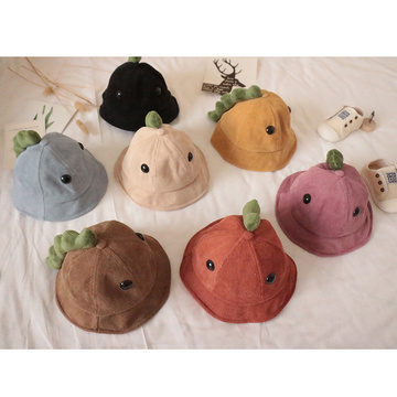 Dinosaur cartoon bucket hat baby winter hats factory