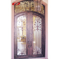 European Design Wrought Iron Double Door