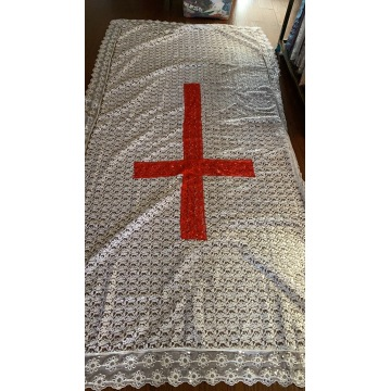 coffin cover embroidery cross lace fabric