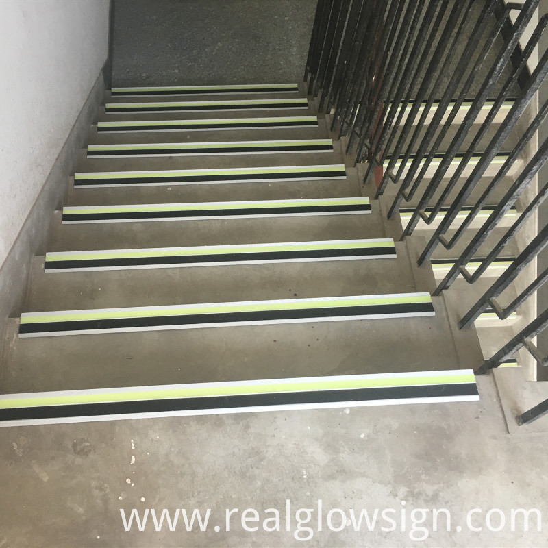 photoluminescent-stair-nosing application day color