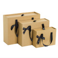 gift bag drawer box with ribbon bow handle