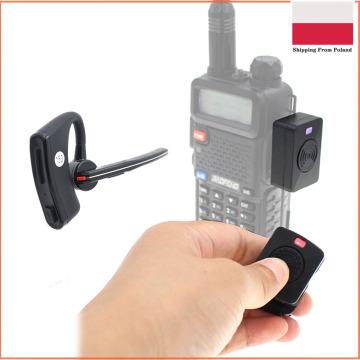 Walkie Talkie Wireless Hands-free PTT Bluetooth Headset Earphone For Baofeng UV-5R UV-82 HYT TC-610 IC-V8 Two Way Radio