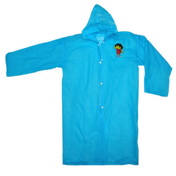 Blue Kids Pvc Rainwear