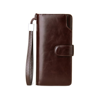 Custom Long Clutch Phone Case Leather Men Wallet