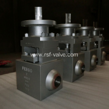 Metal Seat Floating Ball Valve Class 4500