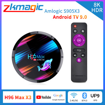 TV Box Android 9.0 H96 max x3 Amlogic S905X3 android Smart TV Box Youtube 2.4G/5G WIFI BT4.0 8K Google Voice Assistant H96X3