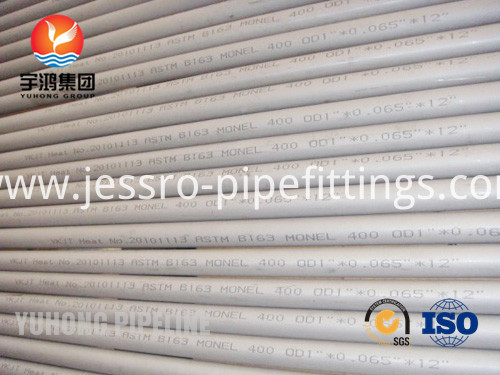 ASTM A163 MONEL 400 seamless tube