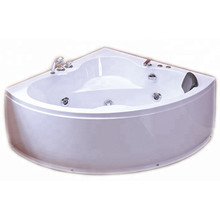 1350mm Corner Whirlpool Bathtub with Control Panel