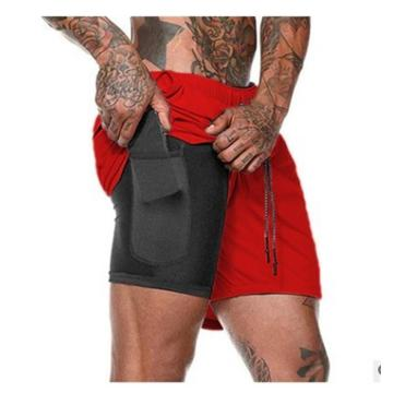 Men Workout Running 2 in 1Shorts with pocket