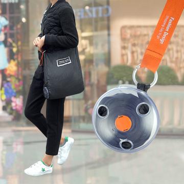 2019 Disc Portable Shopping Bag Small Disc Folding Storage Bag Reusable Eco friendly Shopper Shoulder Portable Shopping Bag