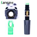 Langzhi 100pcs/lot SC Apc 50mm Zf Ftth Fiber Optic SC Connector SC/APC Optical Fiber Connector Sc-apc Fast Connector