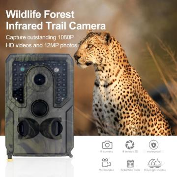 Hunting Camera Trail Camera 12MP 1080P HD Game Camera Waterproof Wildlife Scouting Hunting Cam With 120° Wide Angle Lens