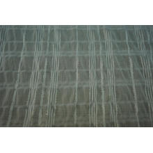 Polyester Chiffon Crinkle Silver Lurex Stripe Dobby Fabric