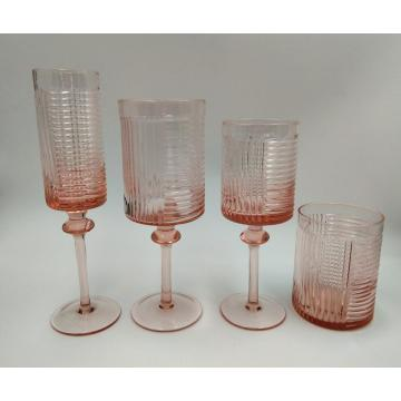 pink color modern champagne glass wine cup tumbler