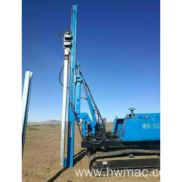 Hydraulic Solar pile driver ramming Piling machine