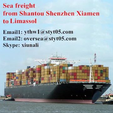 Sea container shipping rate Shantou to Limassol