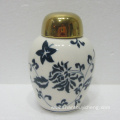 Hand painted ceramic table decoration vase and jar