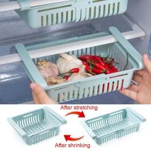 2Pcs Refrigerator Organizer Drawer Kitchen Fruit Vegetable Firdget Organizer Drawer Plastic Fridge Storage Baskets Organizador