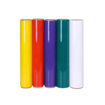 Coloured plastic soft stretch wrap film
