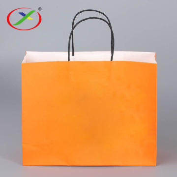 Printed Logo 120g Kraft Paper Bag With Handle