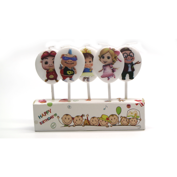 Cartoon sets pick unique birthday candles