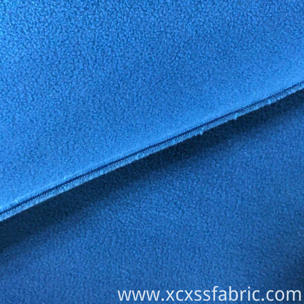 plain dyed solid polar fleece fabric