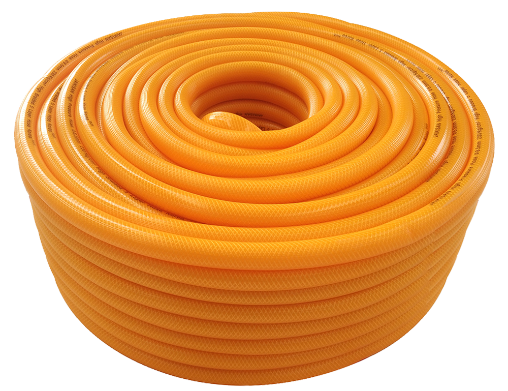 100m Transparent Yellow High Pressure Spray Hose