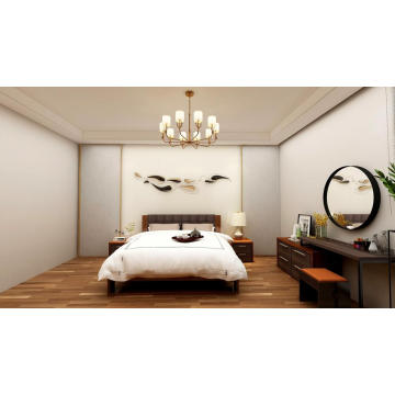 Madilim na Walnut Home Bedroom Set