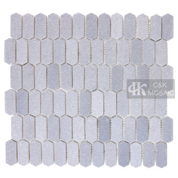 Light Gray Glass Mosaic Backsplash