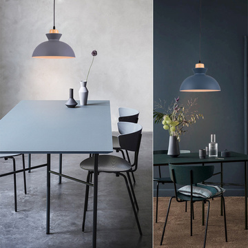 Modern Pendant Light With grey Metal Nordic Style